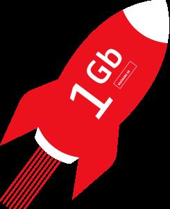 1GB Rocket Icon